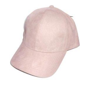 Blush Suede Baseball Hat Adjustable NWT Cap